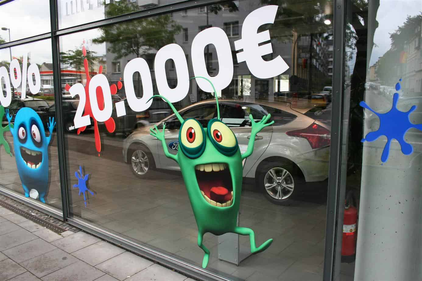 Schaufenster Folierung Monsterpreise